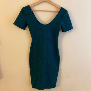 4 / $25 Forever 21 Scoop Turquoise Blue Dress S